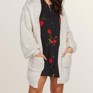 Volcom knit stix chunky oversized cardigan sweater